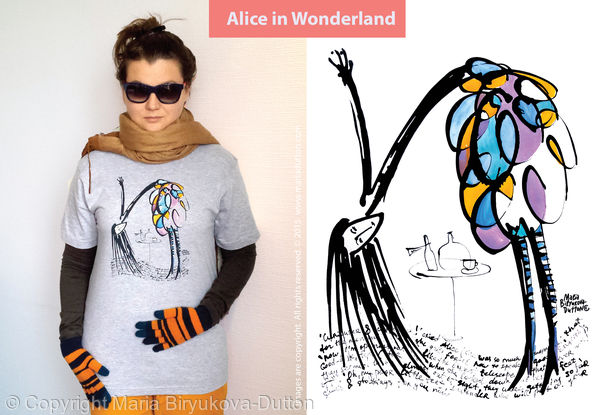 Alice in Wonderland t-shirt  £20 / 250sek