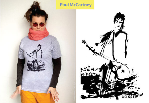 Paul McCartney grey t-shirt £20 / 250sek