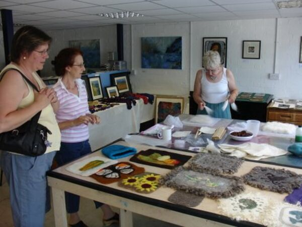 Felt-making Workshop during the Open Studios
