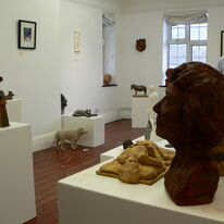 View of First Year Celebration Exhibition at The Drill Hall Horsham photographed by Una Hargrave