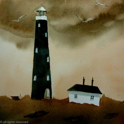 The Lighthouse on a dark day SOLD
