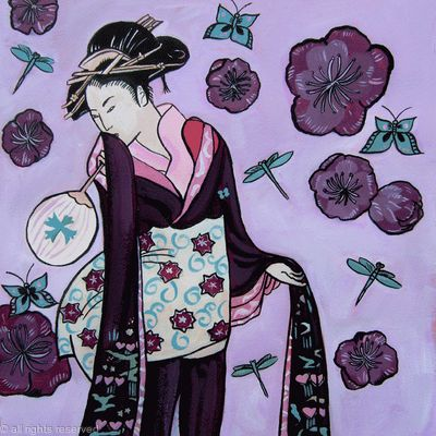 Geisha in purple