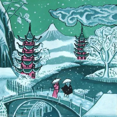 Oriental snowscape