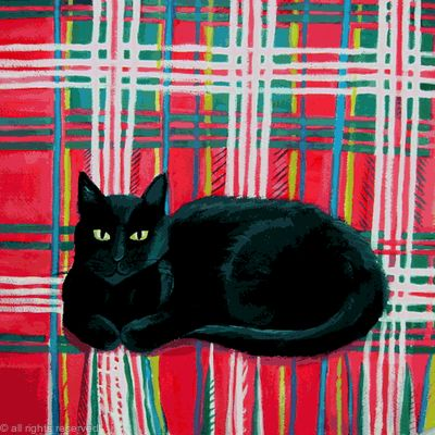 Tilly on tartan SOLD