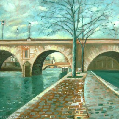Morning light on the Seine SOLD