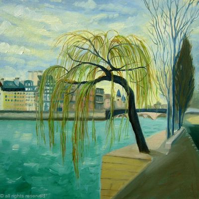 Willow tree by the Seine SOLD