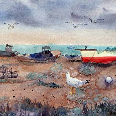 Fishing Boats at Dungeness SOLD