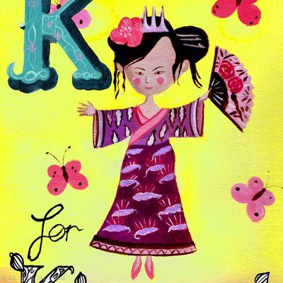 K for kimono
