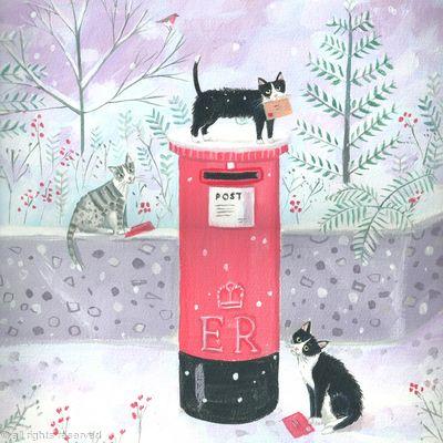 Pillar box cats