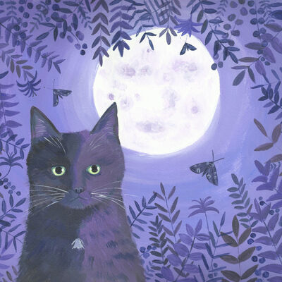 Night Out cat painting