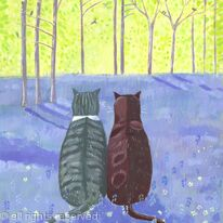Birdwatching in the bluebells