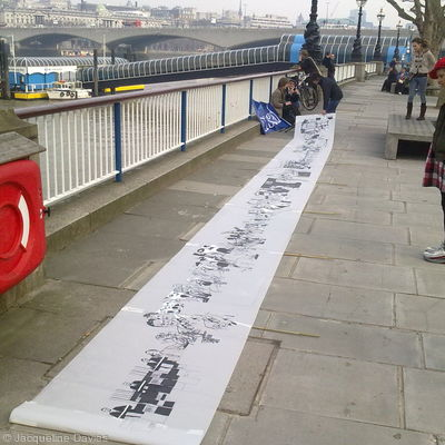 Transparency scroll banner in London