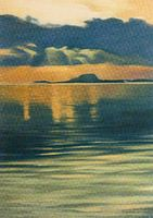 Clare Island from Westport: card