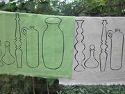 Tea Towels, Pots and spindle print