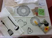 Kitchen Print on Linen Napkin