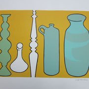 Still life, Pots and Spindle