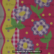 Gingham Check Floral Card 4750