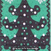 Christmas Tree Card with green b/g