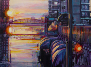 the-river-irwell-from-bridge-street-at-sunset.