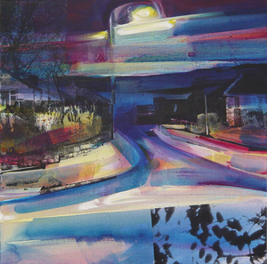 Nightfall on Hilltop Suburbia