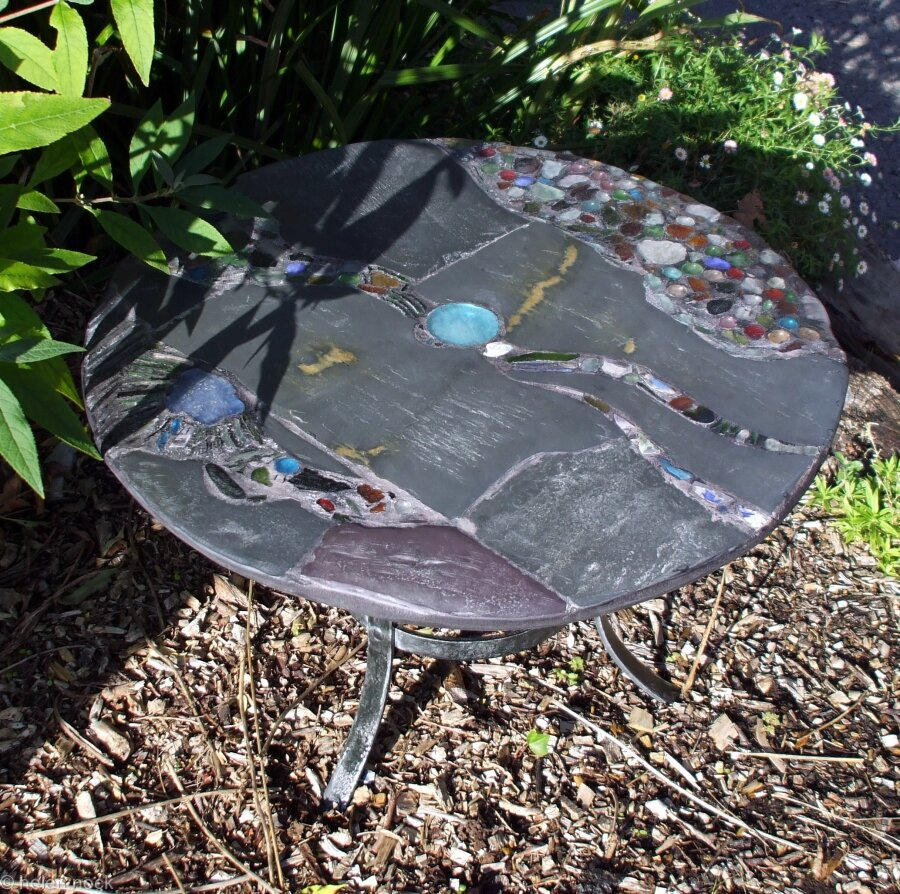 Garden table, 'Shingle Dreaming'