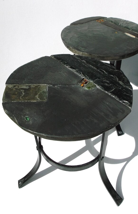 Occasional garden tables and stools