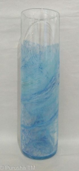 keith rowe light blue white sanctuary glass cylinder