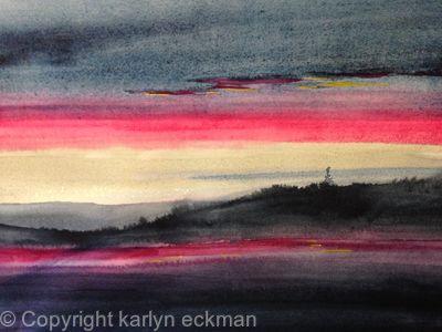 Sunrise at Knife River