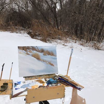 Painting outdoors (plein air)