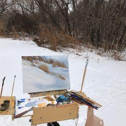 Painting outdoors (plein air)