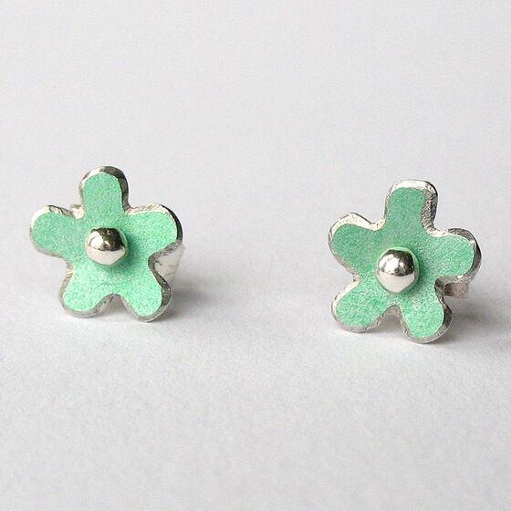 DH1 Little daisy stud earrings in green