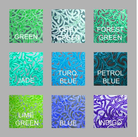 Alyssa Colourways; greens and blues