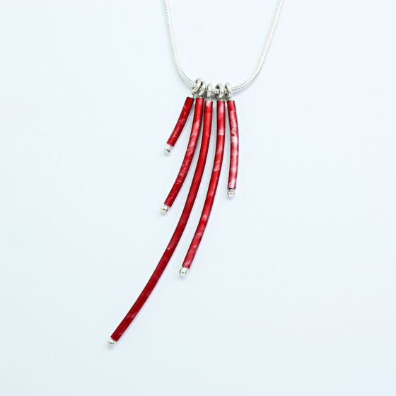 SL53 Five red tube pendant