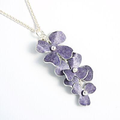 RS11 Multiple rosa cascade pendant in lavender