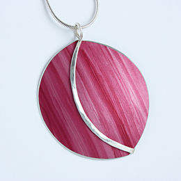 SL24 Large shell dome pendant in pink