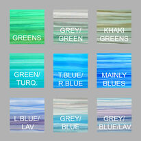 Two tone stripey greens and blues