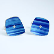 SL26 Strata cufflinks in blues