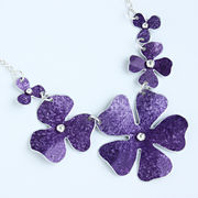 SL36 Purple 5 part rosa necklace