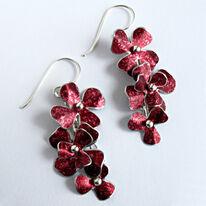RS5 Rosa cascade drop earrings in burgundy