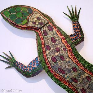 Wall mounted lizard (detail)