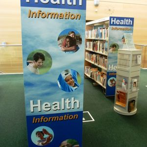 Health information panel Jubilee Library