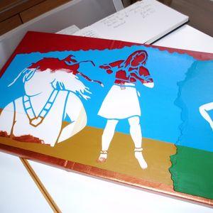 Work in progress for '4 Irenes dancing'