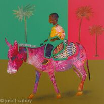 The Boy on the pink Donkey