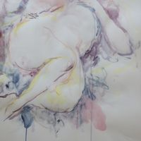 Life drawing reclining