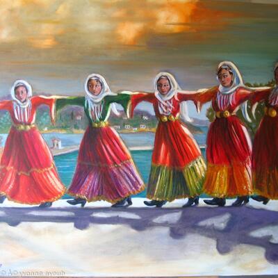 Skiathos Dancers in Traditional Dress;