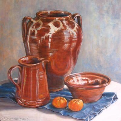 Skyros Pots with Mandarins