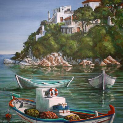 Fishing Boats in Skiathos Old Port