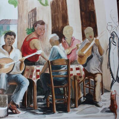 Detail of Alexandros Tavera Mural (WIP)