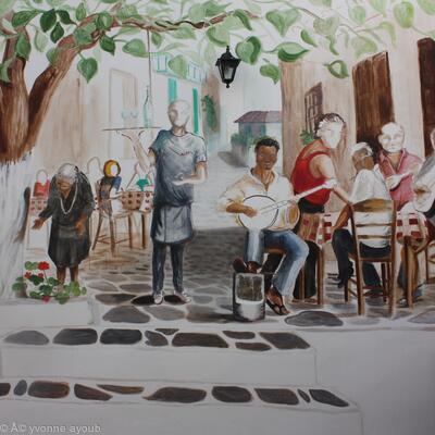 Detail Of Alexandros Taverna Mural