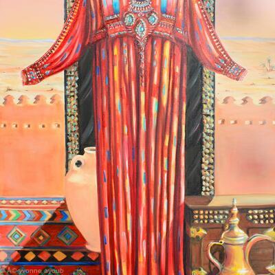 Behind the Veil Diptych part two Riyadh